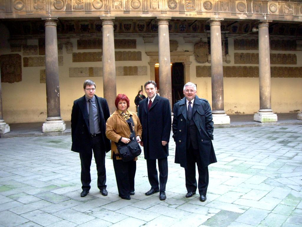 Il Governatore della Vojvodina Josip con collaboratori nostri ospiti