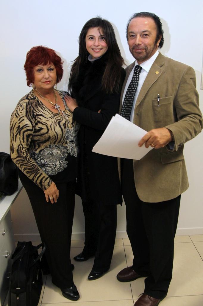 Ruggero Go, Presidente FederClaai Veneto con l'attrice Stefania Falanga e Marisa Maragno