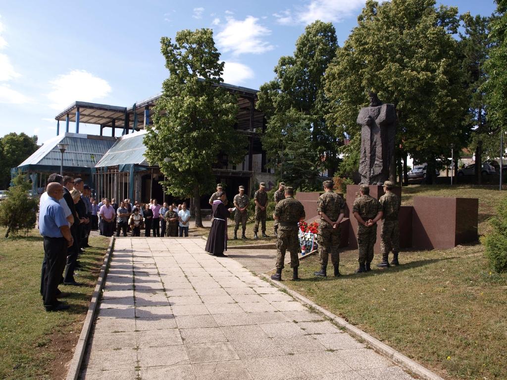 Commemorazione al primo Re della Croazia a Tomislavgrad