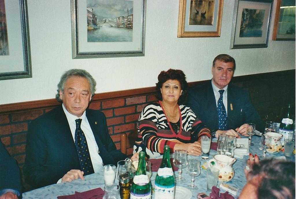 Gianfranco Ballin e Renzo Stevanato con Marisa Maragno, in collaborazione per il 50esimo della Gondola d'Oro