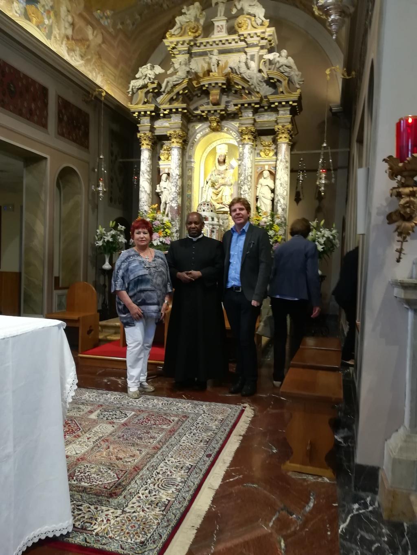 Il Medico ricercatore Damiano Pizzol e Norbert Wendelin Mtega, arcivescovo emerito Arcidiocesi di Songea, Tanzania