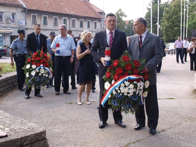 Il Sindaco Vukadin alla Commemorazione al monumento del primo Re della Croazia e dei caduti in guerra