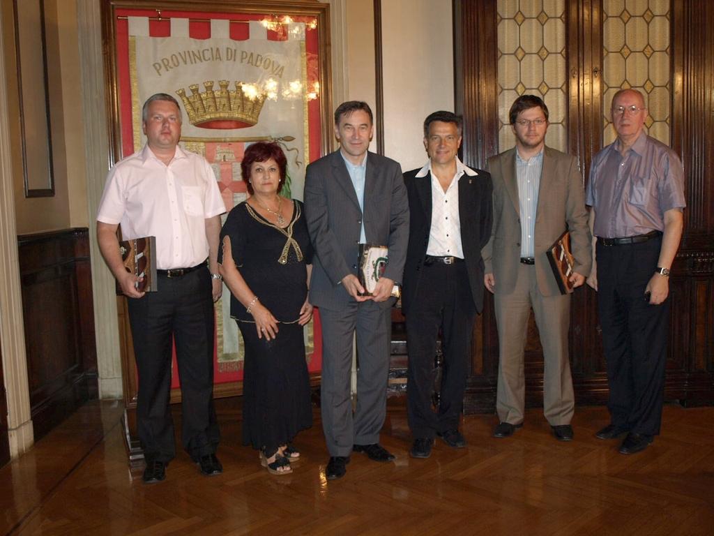 L'ex Governatore della Croazia Josip Posavec ricevuto dalle autorità della Provincia di Padova rappresentate da Domenico Riolfato